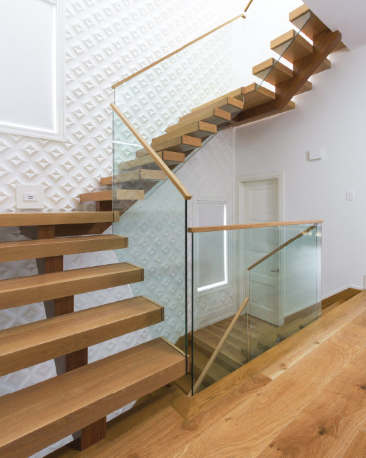 Mono Stringer / Wood Veneer Stringer / Box Steps / Box Landings / Top Mount  Handrail