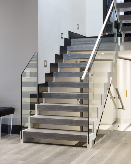 Side Stringers / Zig Zag Stringers / Glass Side Mount Handrail