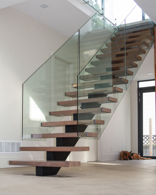 Mrail Modern Stairs Mono Stringer Stairs