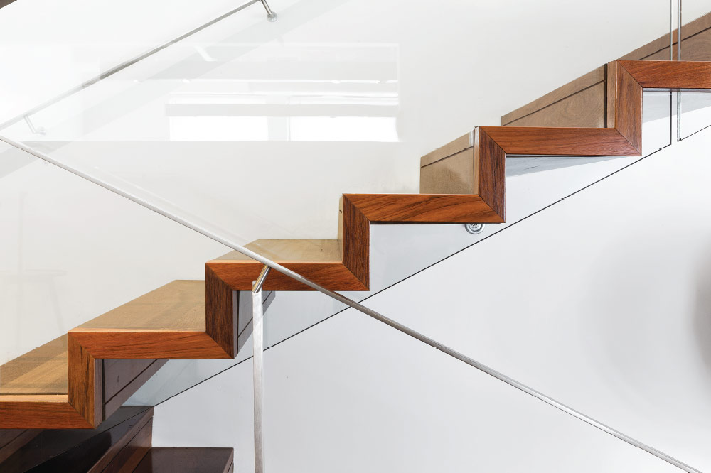 zig zag / glass side mount handrail / post mount handrail / stainless steel handrail